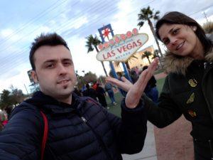 Xuso y Cristina en Las Vegas